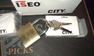 Funny ISEO City padlock