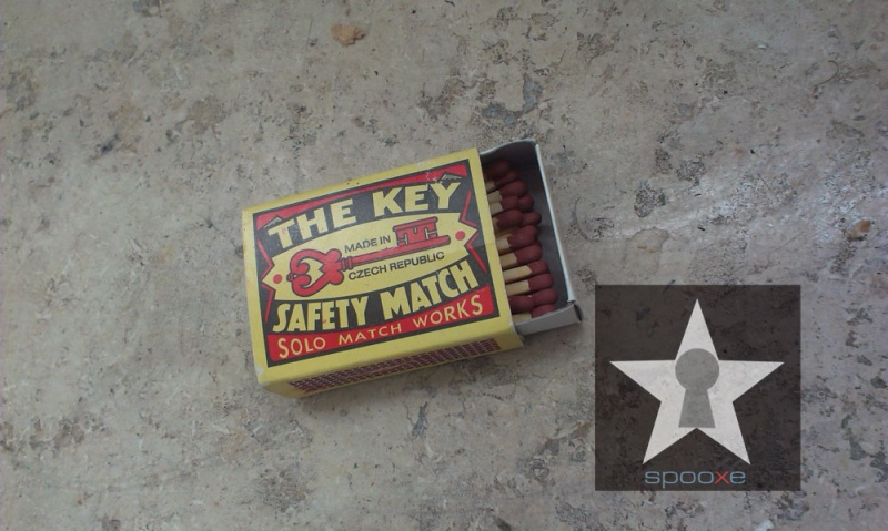 Safety matches for key lovers