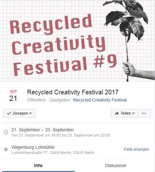 Recycled Creativity Festival 2017